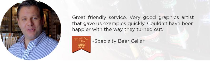 Specialty Beer Cellar Testimonial