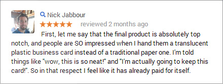 Satisfied Customer Testimonial
