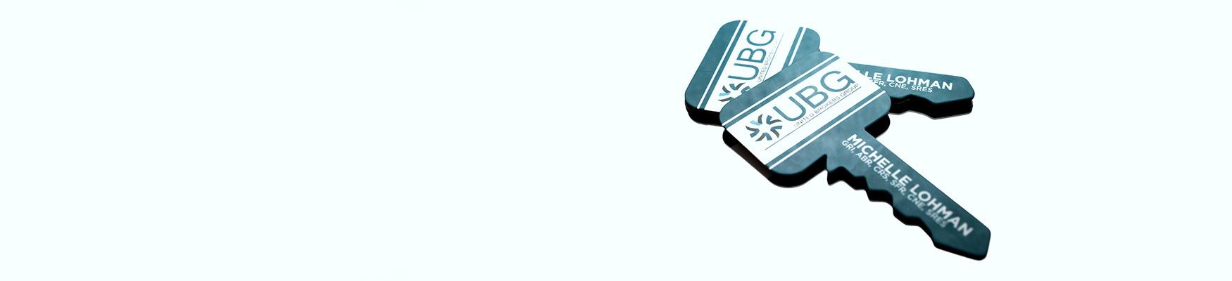 Real estate business cards plastic printers example of custom key shaped real estate business card colourmoves